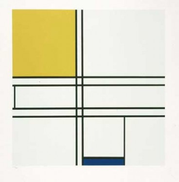 Piet-Mondrian-Composition-Yellow-and-Blue