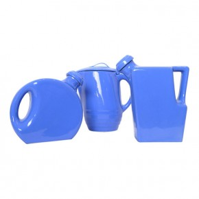 Blue Oxfordware Pitcher Set