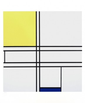 Piet Mondrian Serigraph - Gallerie Denis Renee - 1957 - Composition in Yellow and Blue