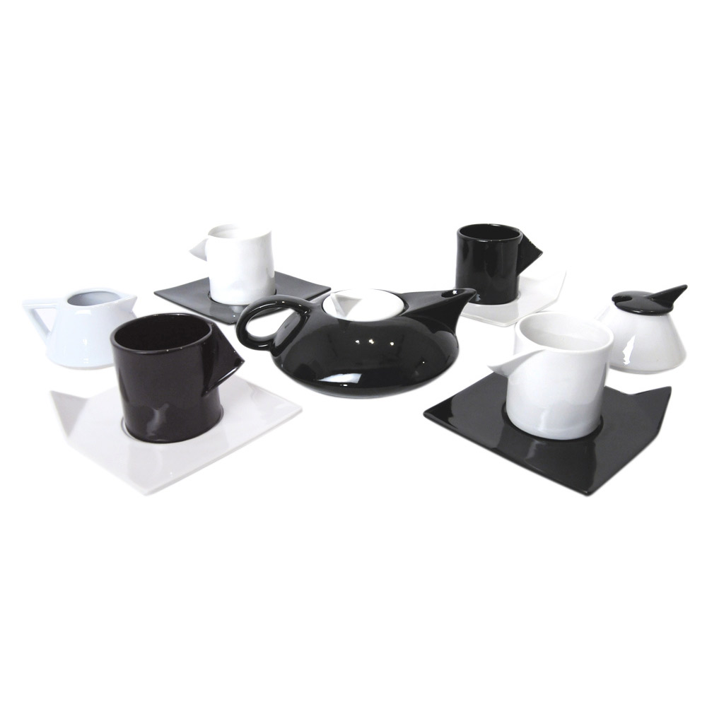 post modern memphis milano inspired tea set modernist icon - post modern tea set