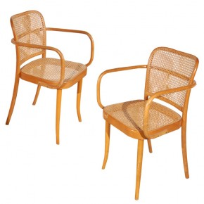 Josef Hoffman Prague Chairs - Bentwood and Cane Chairs - Thonet and Stendig