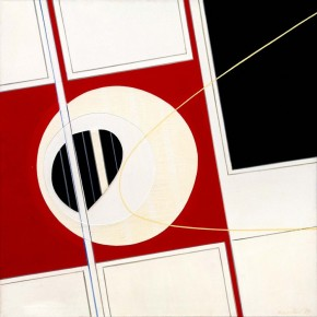 silvano bozzolini rouge noir blanc painting oil on canvas 1979