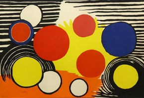 A large lithograph by American Artist Alexander Calder