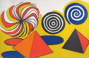 Alexander Calder lithograph from 1970 - Spirals and Pyramids