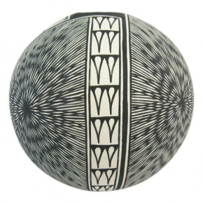 Click to view larger. Acoma Pottery Bowl Geometric by L. Victoriano