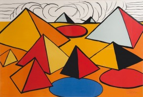 Alexander-Calder-Pyramids-and-Clouds-Large-Lithograph