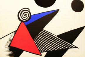 A large lithograph by artist Alexander Calder
